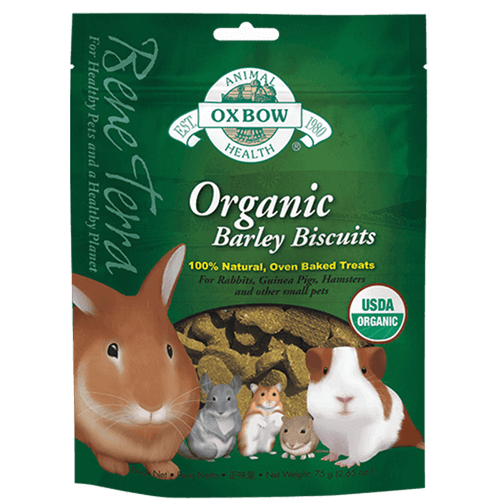Oxbow Organic Barley Biscuits 75 g | Pisces Pets
