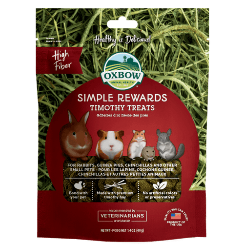 Oxbow Simple Rewards Timothy Treats 40 g | Pisces Pets