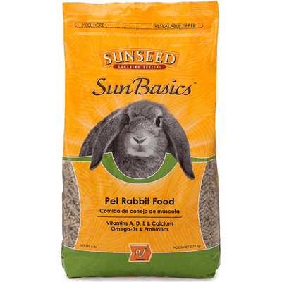 Sunseed SunBasics Rabbit Food - 2.72 kg | Pisces Pets