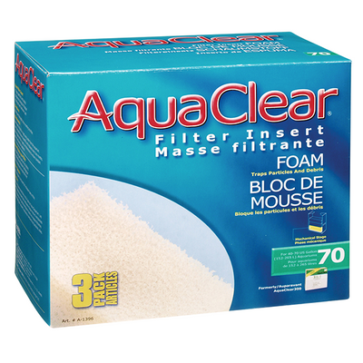 AquaClear 70 Foam Filter Insert - 3 Pack