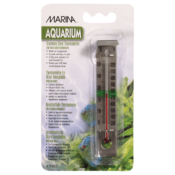Marina Stainless Steel Thermometer | Pisces Pets
