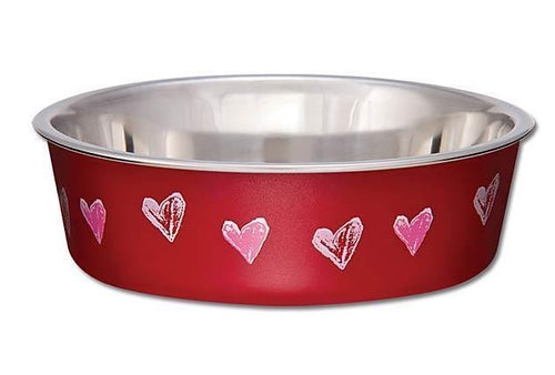 Loving Pets Bella Bowl - Red Hearts