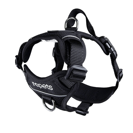 RC Pets Black Momentum Control Harness - Available in 4 Sizes | Pisces Pets