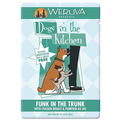 Dogs in the Kitchen Funk in the Trunk Chicken & Pumpkin 80 g Pouch | Pisces Pets