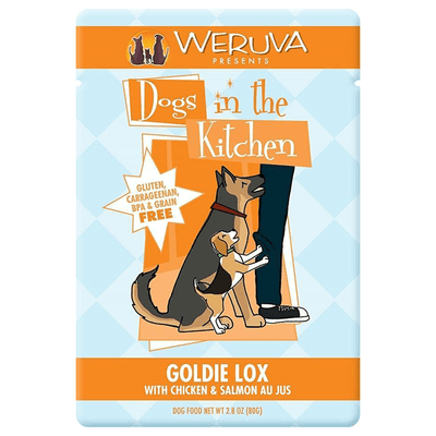 Dogs in the Kitchen Goldie Lox Chicken & Salmon 80 g Pouch | Pisces Pets