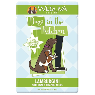 Dogs in the Kitchen Lamburgini Lamb & Pumpkin 80 g Pouch | Pisces Pets