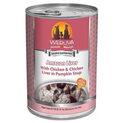 Weruva Amazon Liver Chicken & Chicken Liver in Pumpkin Soup 400 g | Pisces Pets