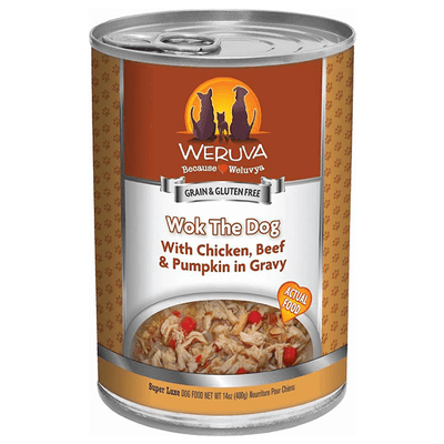 Weruva Wok the Dog Chicken Beef & Pumpkin 400 g | Pisces Pets