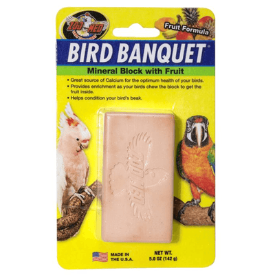 Zoo Med Bird Banquet Mineral Block with Fruit - Large | Pisces Pets