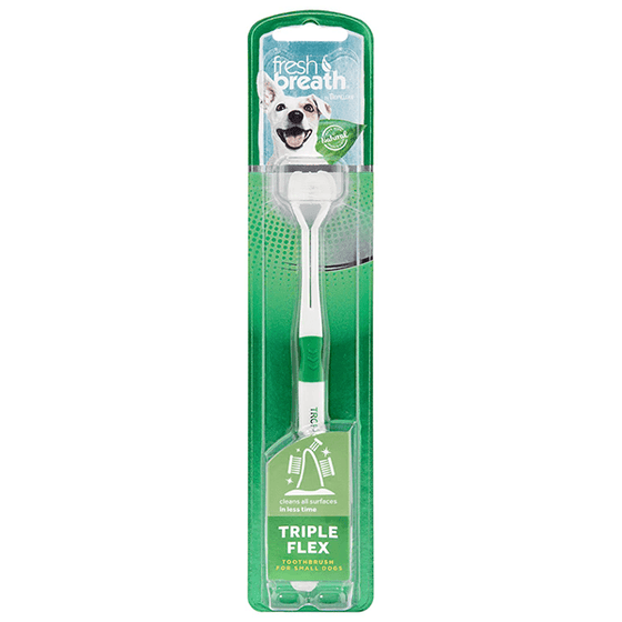 Tropiclean Fresh Breath Triple Flex Toothbrush for Dogs | Pisces Pets