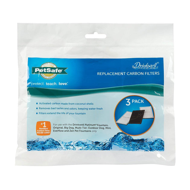 PetSafe Drinkwell Premium Replacement Charcoal Filters - 3-Pack | Pisces Pets