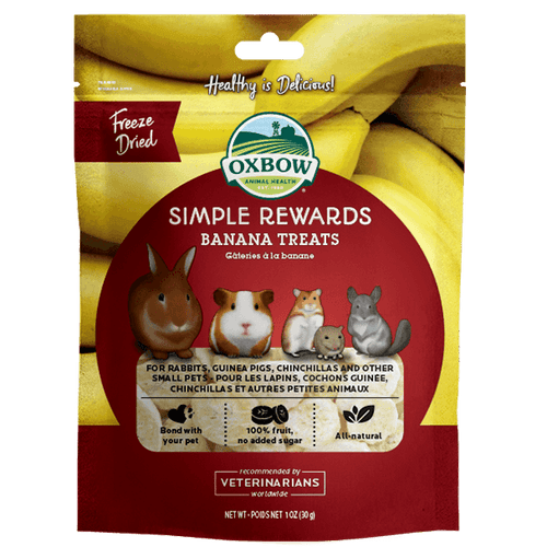 Oxbow Simple Rewards Banana Treats 30 g | Pisces Pets