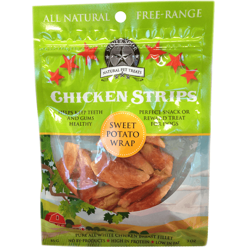 Silver Spur Chicken Strips Sweet Potato Wrap 85 g | Pisces Pets