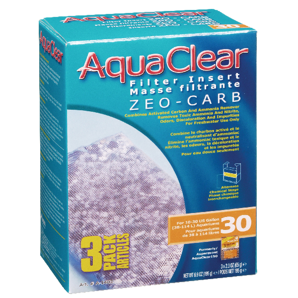 AquaClear 30 Zeo-Carb 3 pack | Pisces Pets