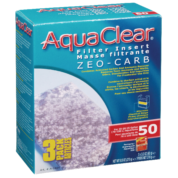 AquaClear 50 Zeo-Carb 3 pack | Pisces Pets