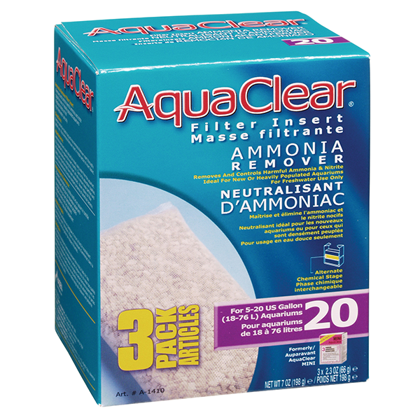 AquaClear 20 Ammonia Remover 3 pack | Pisces Pets