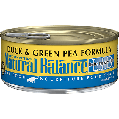 Natural Balance Cat Limited Ingredient Duck & Green Pea 156 g | Pisces Pets