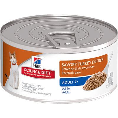 Science Diet Adult 7+ Cat Savory Turkey 156 g | Pisces Pets