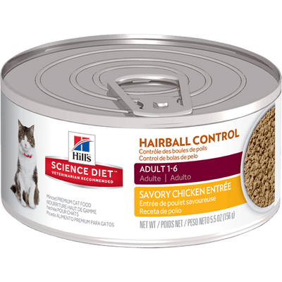 Science Diet Adult Cat Hairball Control Chicken 156 g | Pisces Pets