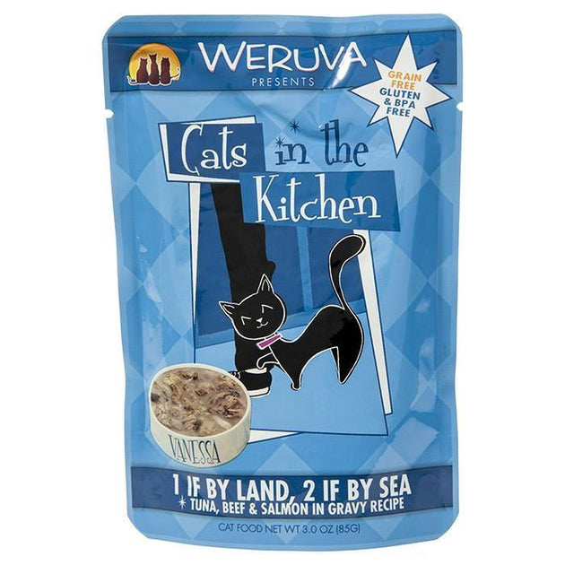 Cats in the Kitchen Tuna Beef & Salmon 85 g | Pisces Pets