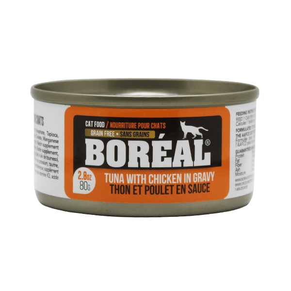 Boreal Cat Tuna with Chicken in Gravy - 80 gBoreal Cat Tuna with Chicken in Gravy - 80 g | Pisces Pets