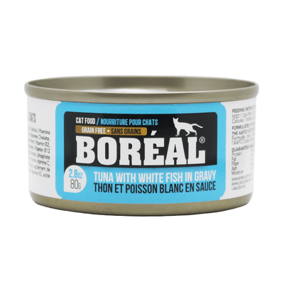 Boreal Cat Tuna & White Fish in Gravy - 80 g | Pisces Pets