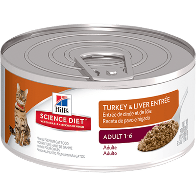 Science Diet Adult Cat Turkey & Liver 156 g | Pisces Pets