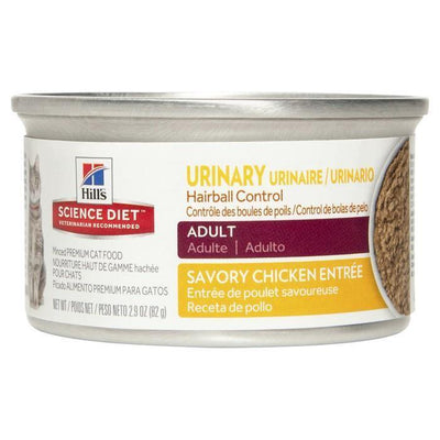 Science Diet Adult Cat Urinary Hairball Control Chicken 82 g | Pisces Pets