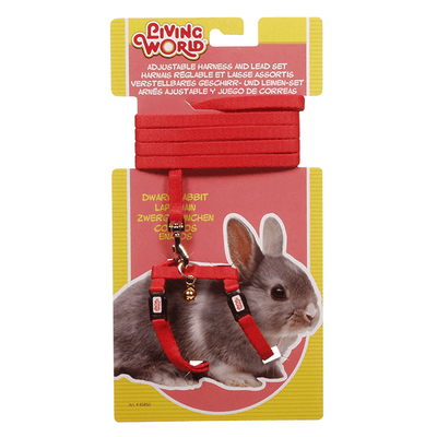 Living World Adjustable Harness and Lead for Dwarf Rabbits | Pisces Pets