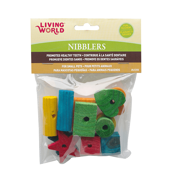 Living World Nibblers Shapes Mix Wood Chews