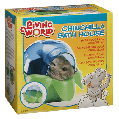 Living World Chinchilla Bath House | Pisces Pets