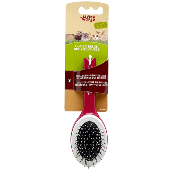 Living World Small Animal Combo Brush | Pisces Pets