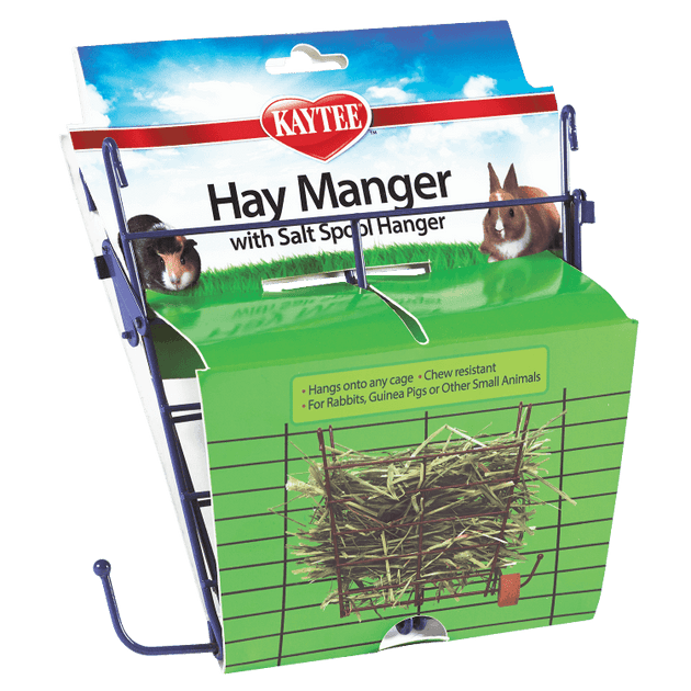 Kaytee Hay Manager with Salt Spoon Hanger | Pisces Pets