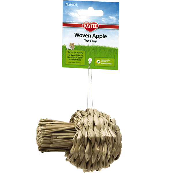 Kaytee Natural Woven Apple Toss Toy | Pisces Pets