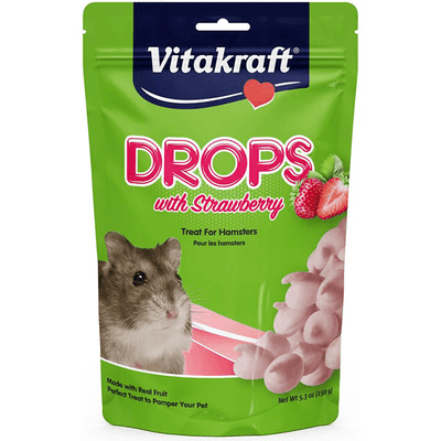 Vitakraft Drops with Strawberry for Hamsters - 150 g | Pisces Pets