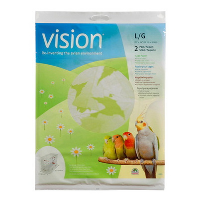 Vision Large Cage Paper - 2 Pack | Pisces Pets