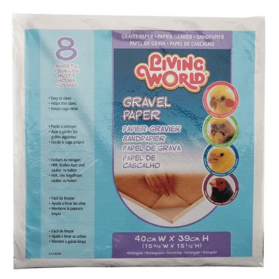 Living World Large Gravel Paper 8 Pack - 15.75 x 15.5 Inches | Pisces Pets