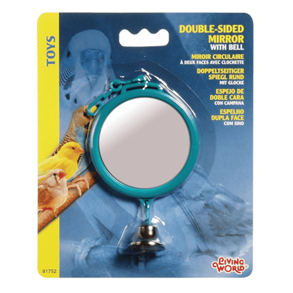 Living World Double-Sided Mirror with Bell - Large | Pisces Pets
