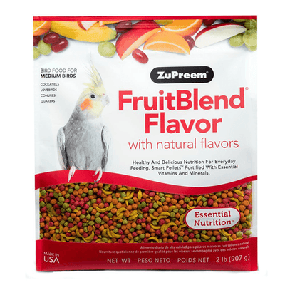 ZuPreem FruitBlend Medium Birds 907 g | Pisces Pets