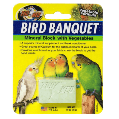 Zoo Med Bird Banquet Mineral Block with Vegetables - Small | Pisces Pets