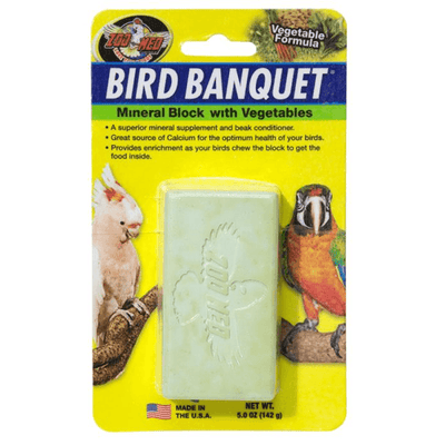 Zoo Med Bird Banquet Mineral Block with Vegetables - Large | Pisces Pets