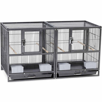 Prevue Hendryx Hampton Deluxe Divided Breeder Bird Cage | Pisces Pets