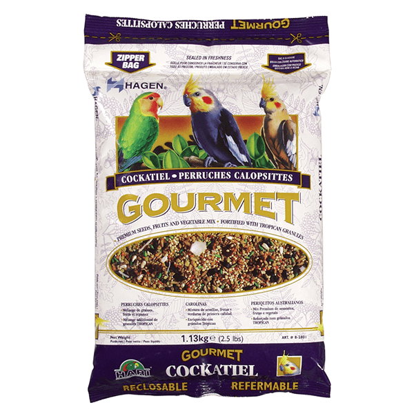 Hagen Gourmet Seed Mix for Cockatiels & Small Hookbills - 1.13 kg | Pisces Pets