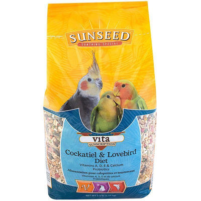 Sunseed Vita Sunscription Cockatiel & Lovebird Diet - 1.13kg | Pisces Pets