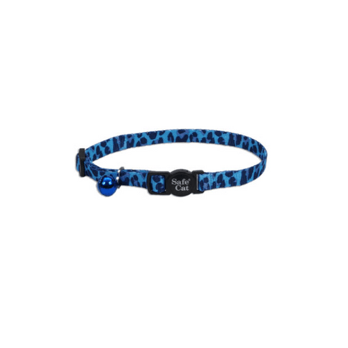 Coastal Pet Safe Cat Adjustable Breakaway Collar Blue Leopard - 12""