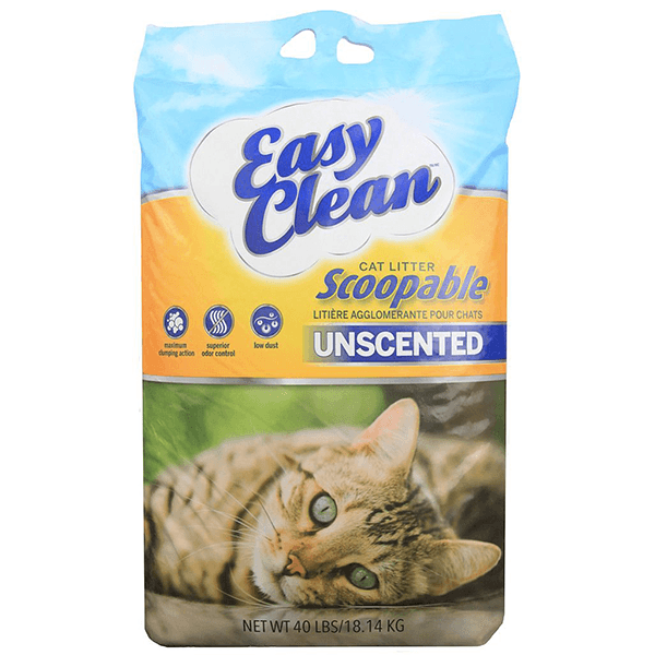 Pestell Easy Clean Unscented Clumping Litter - 18 kg | Pisces Pets