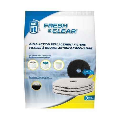 Catit Design Fresh & Clear Foam / Carbon Filters - 3 Pack