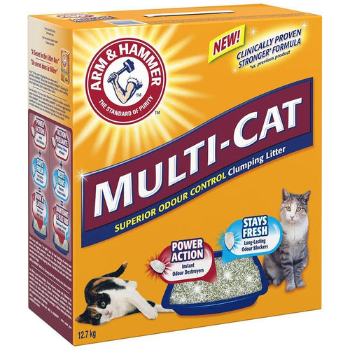 Arm & Hammer Multicat Clumping Litter- 12.7kg