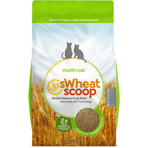 sWheat Scoop Multi Cat Litter - 11.4 kg | Pisces Pets