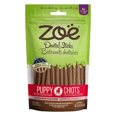 Zoe Puppy Dental Sticks Cinnamon Flavour - Large | Pisces Pets